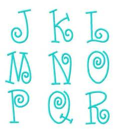 Girly fonts letters not too girly whirly monogram