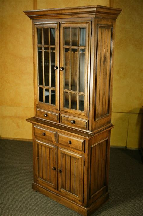 Tv Cabinet Armoire by Crafted Armoire Tv Cabinet With Glass By