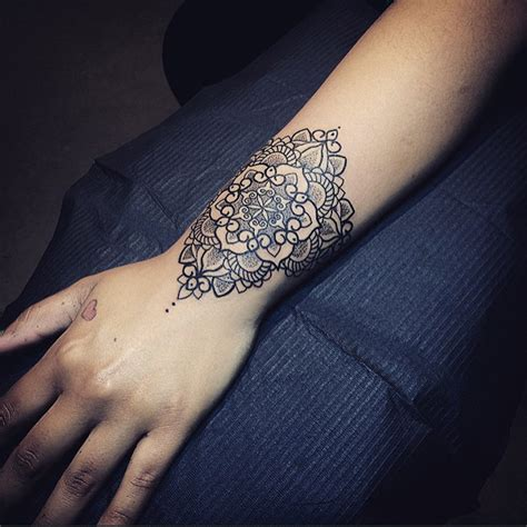pretty mandala wrist tattoo best tattoo design ideas