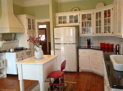 vintage inspired kitchen what s old is new retro kitchens with big chill thrift