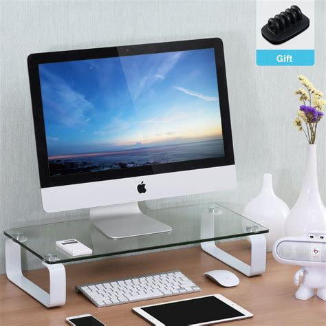 computer monitor stand for desk stable riser computer monitor stand for desktop buy