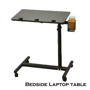 Bedside Laptop Desk Space Saving Bedside Adjustable Rotating Laptop Computer Desk Table Food Tray Ebay
