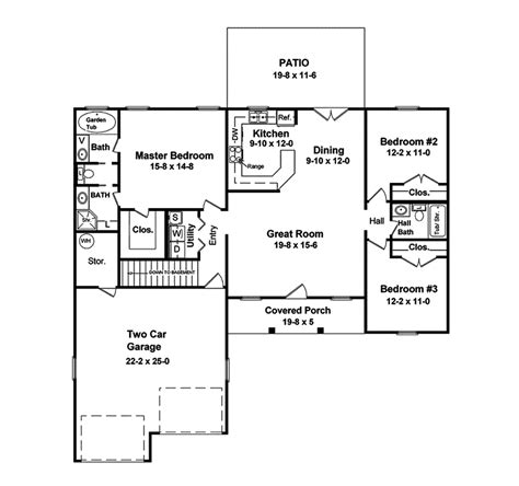 Pompeii House Plan Pompeii Ranch Style Home Plan 077d 0020 House Plans And More
