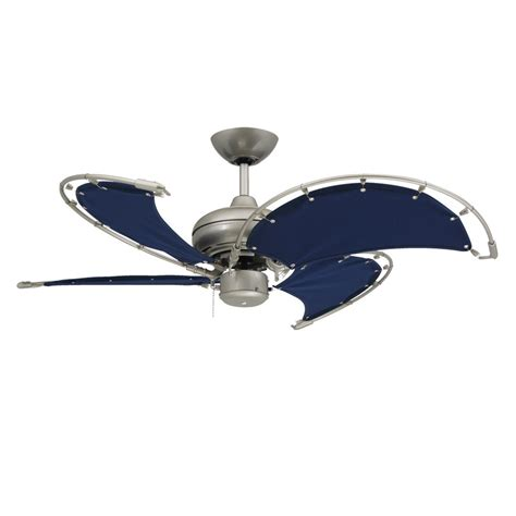 Ceiling Fan Nautical voyage nautical ceiling fan brushed nickel with 40 inch sail cloth blades modern fan outlet