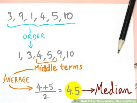 How To Find To With How To Find Mode Median And Range 9 Steps With Pictures