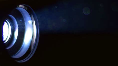 Really Bright Light by The Bright Projector Light Macro Up View With Cinema Stock Footage