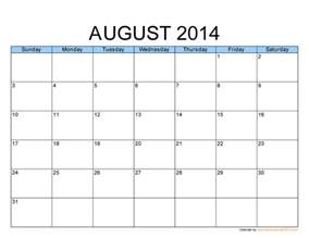 5 best images of aug 2014 calendar printable template