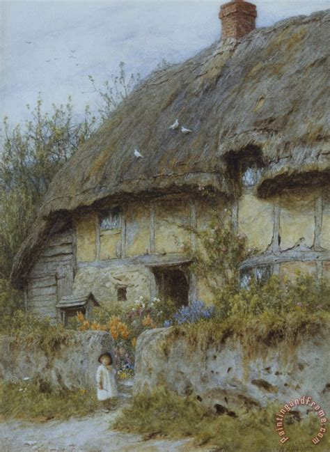 Helen Allingham A Berkshire Cottage Painting A Berkshire Cottages Berkshire