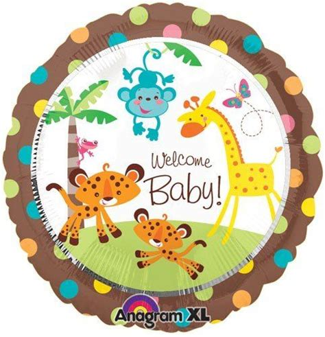 City Safari Baby Shower by Fisher Price 18 Quot Welcome Baby Shower Jungle Animal