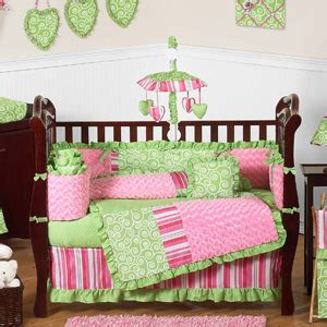 green and pink nursery olivia girls boutique pink and green baby bedding 9pc