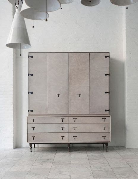 furniture leather hutch bddw living room storage cabinet record album cabinet modern