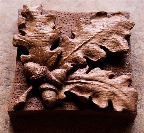 leaf pattern relief carving golden studios carved oak leaf acorns