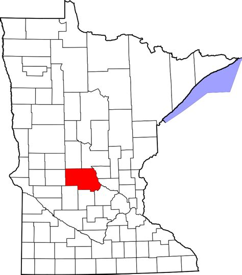 Stearns County Records File Map Of Minnesota Highlighting Stearns County Svg Wikimedia Commons