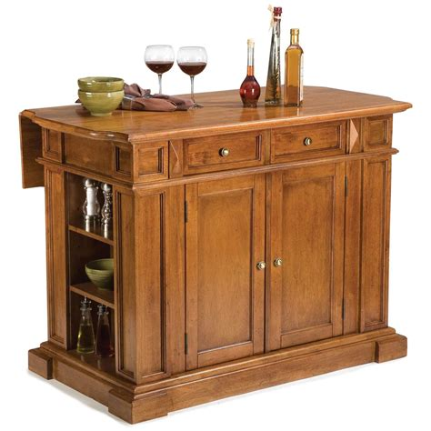 kitchen islands oak home styles cottage oak kitchen island with breakfast bar