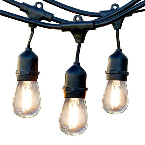 Hanging Led Lights Outdoor Newhouse Lighting 48 Foot Outdoor String Lights Led Bulbs Included