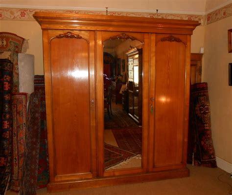 large golden honey oak wardrobe