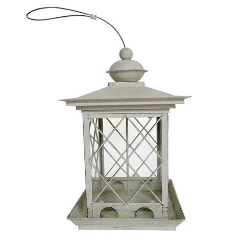 shop backyard glory antique white metal hopper bird feeder