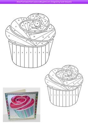 iris card patterns birthday cupcake iris folding pattern cup494750 172