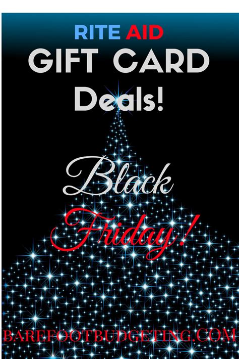 Black Friday Gift Card Specials - rite aid black friday gift card deals barefoot budgeting