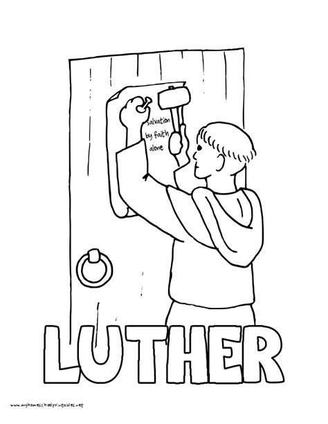 world history coloring pages printables martin luther 95