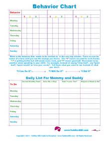 Behavior Charts For Preschoolers Template by Toddler Abc Guide To Discipline Print Behavior