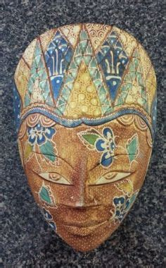 Indonesia T Batik 001 mask carved pule wood prince sun patterned batik