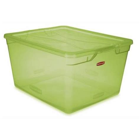 green rubbermaid storage containers rubbermaid 71 qt clever store clear lime green non