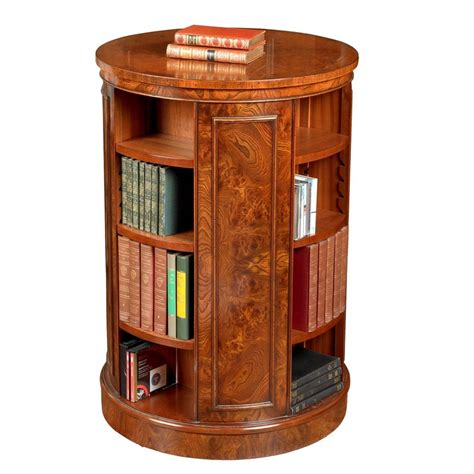 revolving elm bookcase bookcases cabinets