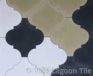 moroccan arabesque shaped cement tiles villa lagoon tile