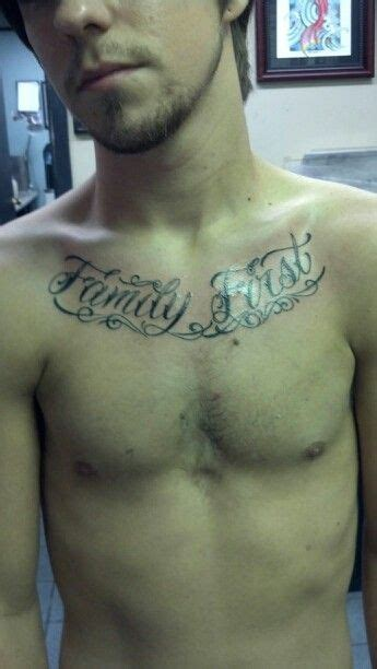 family first chest tattoo my chest family graffiti