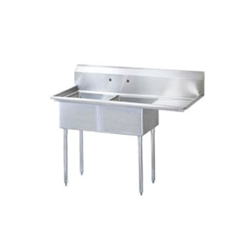 turbo air tsb 2 r2 75 in two compartment sink etundra