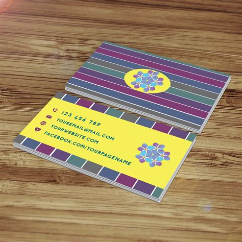 Me Business Card Template by Business Card Template Design Forget Me Not Aya