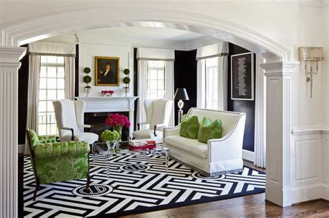 Black And White Living Room Rug by 19 Black And White Living Room Designs Decorating Ideas