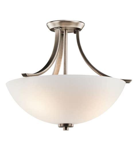 Light Bulb Shaped Ceiling Light Kichler 42563bpt Granby 3 Bulb Incandescent Semi Flush Mount Ceiling Light With Bowl Shaped
