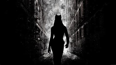 wallpaper black shadow anne hathaway batman silhouette catwoman gotham city