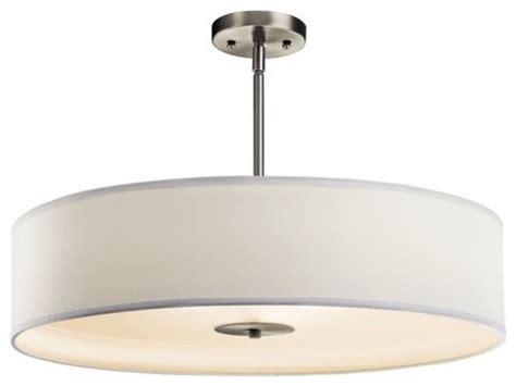 Drum Shaped Pendant Lights Kichler 42122ni 3 Bulb Indoor Pendant Or Semi Flush Ceiling Light Drum Shaped Transitional