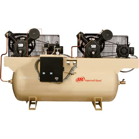 ingersoll rand air compressor duplex 5 hp 230 volt 3 phase model 2475e5 v northern tool