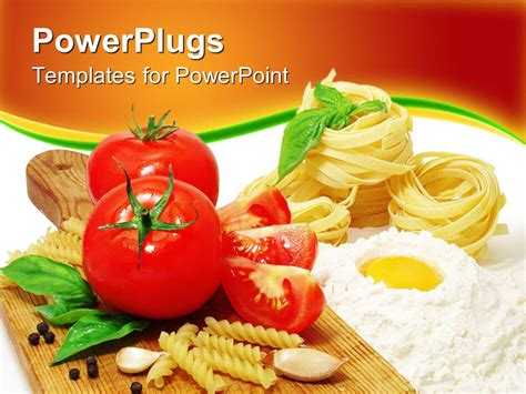 Powerpoint Template Red Fresh Tomatoes Pasta Cooking In Progress Food Ingredients 23112 Culinary Powerpoint Templates