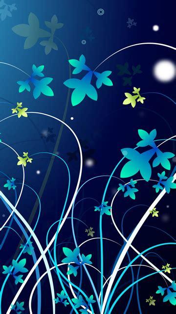 blue flowers lenovo mobile wallpapers  hd wallpaper