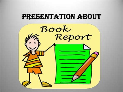 book report presentation ppt book report