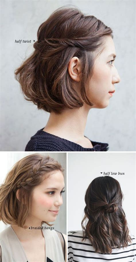hairstyles quick and easy to do m 25 best ideas about short hair dos on pinterest styles