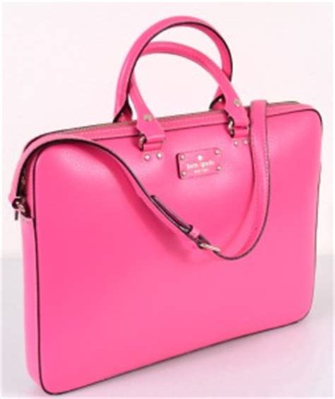 Pink Leather Laptop by New Kate Spade Sapphire Pink Leather Wellesley