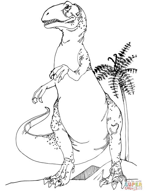 jurassic dinosaurs coloring pages allosaurus jurassic dinosaur coloring page free