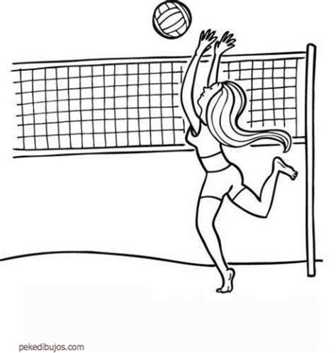 dibujos de niños jugando voleibol dibujos de voleibol para colorear