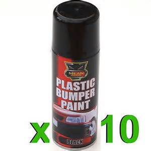 10 x black plastic bumper trim spray can 200ml restorer