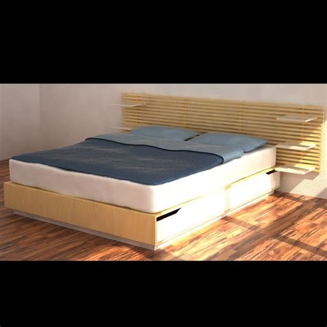 mandal bed 3d model bed ikea mandal