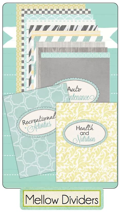 home organization binder dividers for home management binder free download