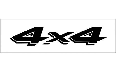 Ford 4x4 Decals by Graphic Express Ford Truck 4x4 Decal 1 189 Quot X 8 Quot