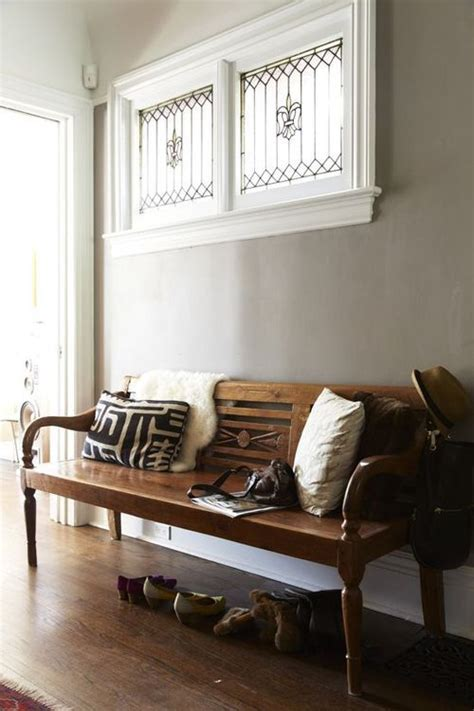 entrance benches leaded windows and hallway bench like box pinterest