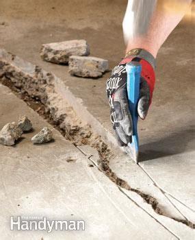 DIY Concrete Crack Repair   The Family Handyman